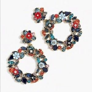 J.crew colorful floral earrings. Perfect!